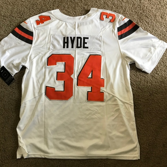 sports shoes 7e616 d49f8 Cleveland Browns Carlos Hyde Jersey Men's Large